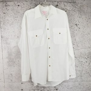FILSON Vintage Feather Shirt White Large